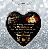 Akyol® To my beautiful wife Sleutelhanger   Liefde   Familie   Leuk kado voor je vriendin om te geven
