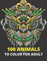100 Animals to color for adult