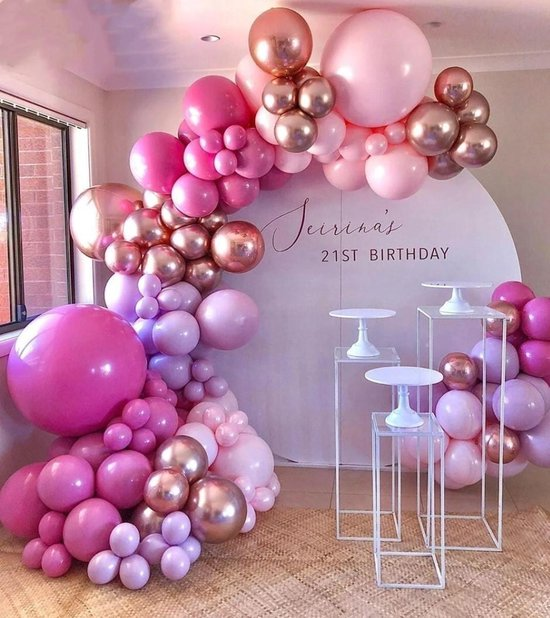 Ballonnenboog - Roze ballonnen - Ballonnenpakket