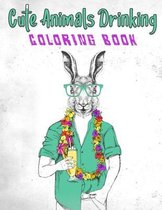 Cute Animals Drinking Coloring Book