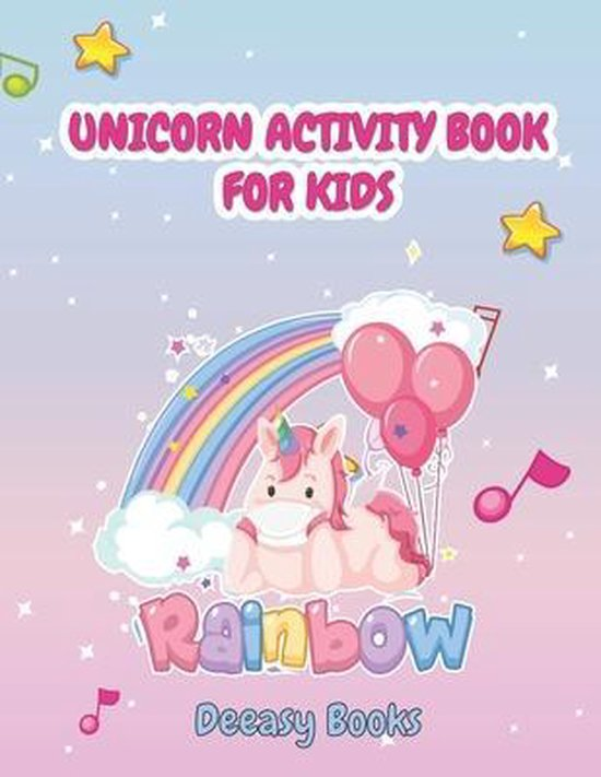 Unicorn Activity Book for Kids: Amazing Activity Book For Kids: Coloring, Learn Alphabet, Dot to Dot, Mazes &More, Ages:4-6,7-8