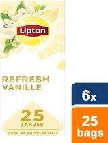 Lipton - Feel Good Selection Zwarte Thee Vanille - 6x 25 zakjes