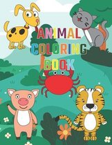 Animal Coloring Book: Kids Coloring Activities Book: For Kids Aged 3-8