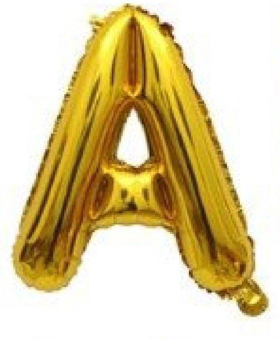 Folieballon / Letterballon Goud  - Letter A - 41cm