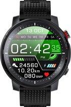 DrPhone PureSport Pro-X - Smartwatch Horloge voor Mannen IP68 Waterdicht - Sporthorloge - ECG Hartslag - LED - Fitness - Notificaties - Nederlandse versie