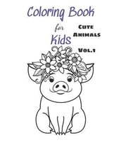 Coloring Books For Kids Cute Animals Vol.1