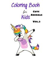 Coloring Books For Kids Cute Animals Vol.3