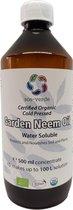 SOS-VERDE Garden Neem Olie - Wateroplosbaar concentraat - 500ml - Voedt & Beschermt - Voorkom bladluizen, schildluis, wortelluis, rupsen, galmug, spint, tripsen, bladvlo, larven, engerlingen - Tot 100 L spuit of gietoplossing