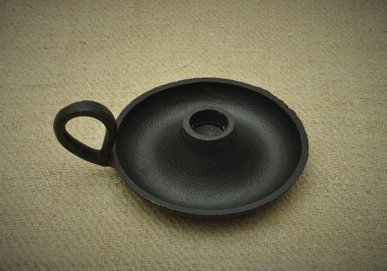 Kolony, Kaarsenstander, Blaker, zwart metaal, a.a. voor een dinerkaars, 12 x 15,5 x 3,5 cm