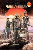 The Mandalorian poster Star Wars  Din Djarin-the Child-Cara Dune 61 x 91.5 cm.
