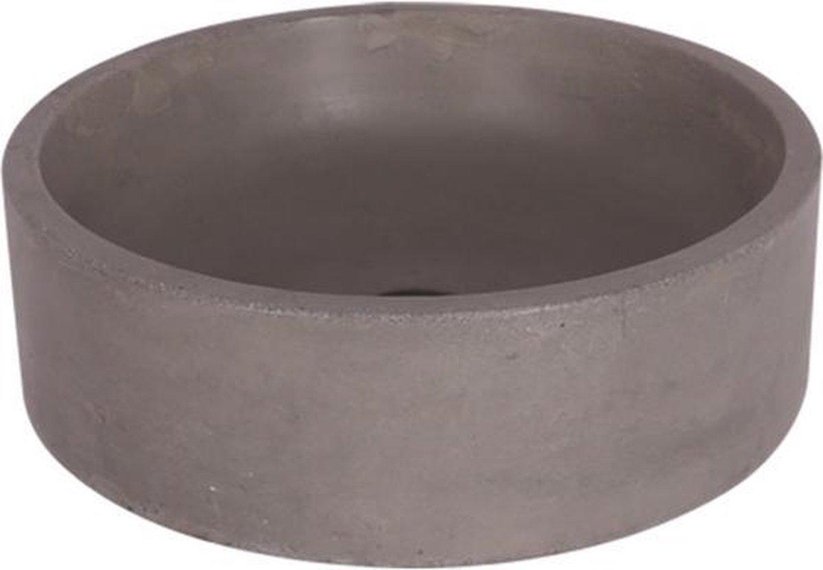 Differnz Marba - Wastafel beton lichtgrijs - Rond - 42 x 42 x 13 cm