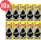 Set van 10 Auto Geurverfrisser- Luchtverfrisser - Auto Verfrisser - Geurboom - 10 stuks Black Ice