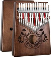 kalimba - Kalimba 17 toetsen - Kalimba duimpiano -  Afrikaans hout van hoge kwaliteit - mbira met stemhamer - piano tas - studiegids - kerstcadeau voor beginners.