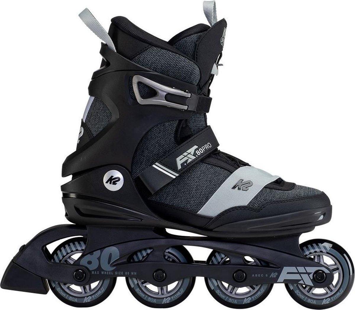 K2 Fit 80 Pro unisex skate maat 42,5. Advies om 1 maat groter te kopen als normale schoenmaat