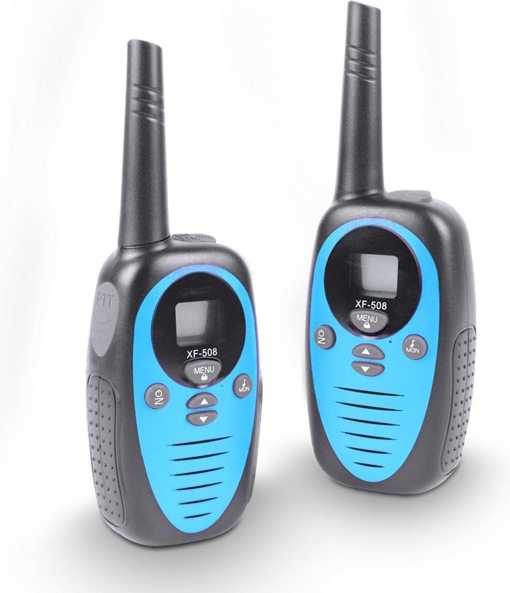 Cammy Talkie - Walkie Talkie voor Kinderen - 2 stuks - 3 km bereik - Verschillende kleuren - Blauw - Inclusief batterijen