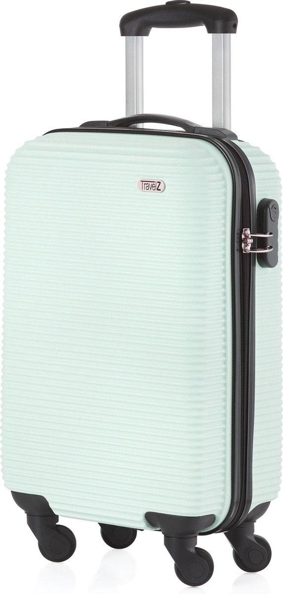 TravelZ Horizon Handbagagekoffer - 54cm Handbagage Trolley met gevoerde binnenkant - Mint