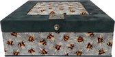 The Box For Tea Bijen Theedoos met Thee Cadeau - 9 vaks - Grijs