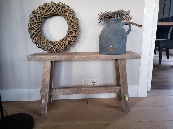 Steigerhouten Bankje - Krukje - 80 cm - Gebruikt Hout