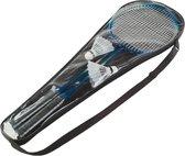 Badmintonset - Badminton set inclusief badminton accessoires - Inclusief badmintonrackets, badminton shuttle / pluim / pluimpje en badminton hoes - Kinderen en volwassenen - Batminton - Batmintonset - Batminton set