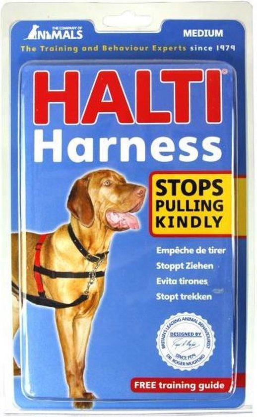 Halti Harnass Hondentuigje - Anti trektuigje - M - 60 tot 80 cm – Zwart