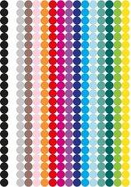 Stippen Stickers   Label Stickers   3 Grote A4 Vellen   1104 Gekleurde Stippen Stickers   10mm   Organiseren en Opruimen met Stickers