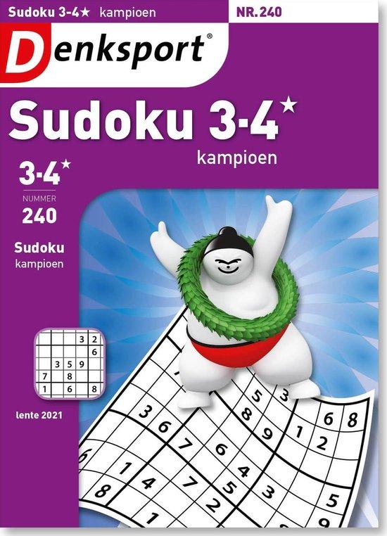 Afbeelding van Denksport Puzzelboek, Sudoku 3-4* kampioen, editie 240