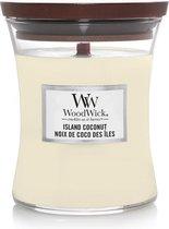 Woodwick Hourglass Medium Geurkaars - Island Coconut