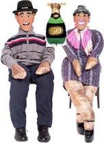 1 Opvulpop MET opblaasballon champagne fles met 50 jaar (42x92 cm ) - feestpop met ballon 50 jaar - Sarah Abraham - feest 50 jaar - sara opvulbare pop - abraham vulpop - 1.85 - 1stuks levensgroot verkleedpop - opvul pop - Sarah pop - Abraham Pop