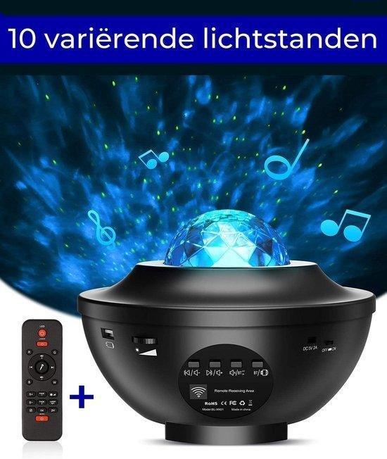 Zedar sterren projector - Zwart - Met afstandsbediening - 10 kleuren licht sterrenhemel (galaxy projector)