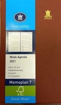 Afbeelding van Ryam Zak Agenda 2021 - Memoplan 7 ROOD (zachte kaft)