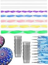 Dot Painting Tools  – Dotting Tools – Pennen –Verfbakjes – Penseel - Hobby - Gereedschap -Volwassenen en Kinderen -