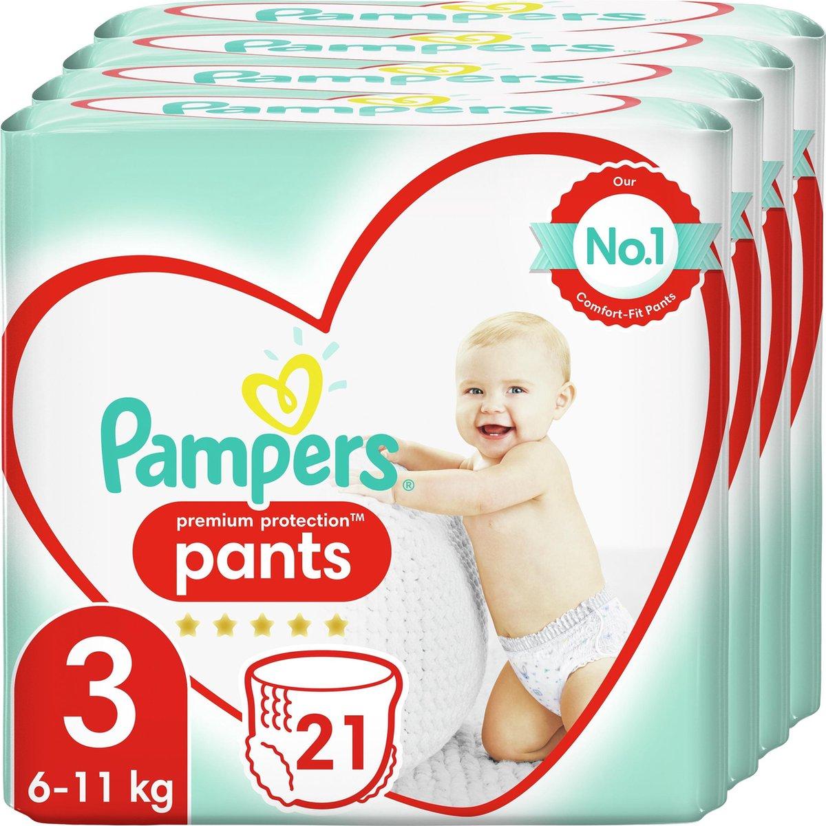 Pampers Premium Protection Pants Luierbroekjes - Maat 3 (6-11 kg) - 84 stuks - Maandbox