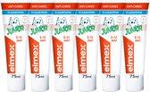 Elmex Junior (5 tot 12 jaar) Kindertandpasta 6 x 75ml - Voordeelverpakking