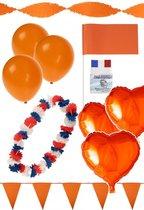 Oranje Pakket 6 personen | Oranje Koningsdag pakket | Oranje vlaggetjes | Oranje ballonnen | Oranje Folieballonnen | Koningsdag versieren |