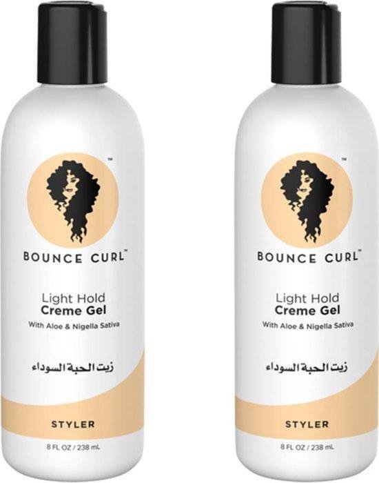Set van 2x Bounce Curl XL size/VOORDEEL PAK Light Creme Gel Hair Curling Lotion 12oz 358ml