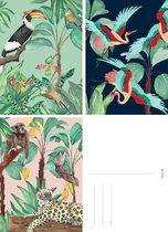 &INK Wenskaarten set - 15 Stuks - Botanisch - Vogels