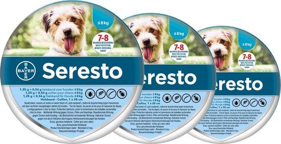 Seresto Teken- En Vlooienband Small - kleine hond - Anti tekenmiddel - 3 x 38 cm Tot 8 Kg