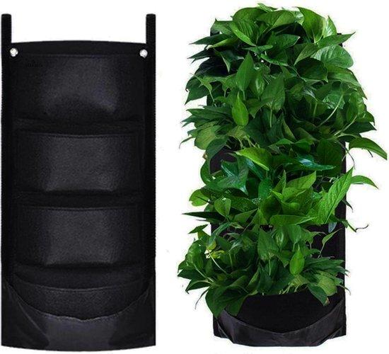 Vitamo™ Verticale Tuin met 4 Vakken - Hangende Plantenzak - Plantenhanger - Verticaal Tuinieren - Plantentuin - Moestuin - Kruidentuin - Kruiden - Duurzaam vilt - Waterdicht achterkant - 65 x 30cm