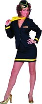 Stewardess outfit blauw 4 delig Maat 38