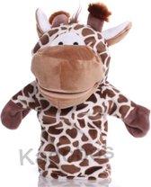 pluche handpop giraf voor kinderen