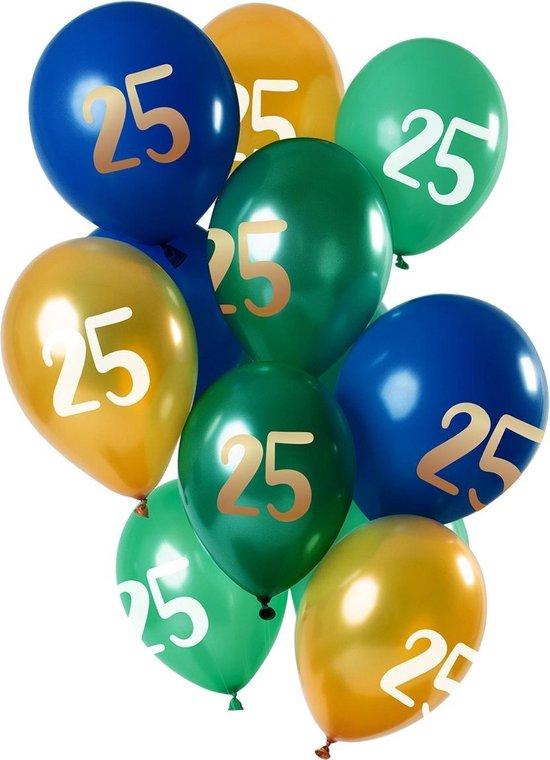 Ballonnen 25 Jaar Mix 30cm 12st