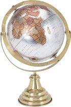 Wereldbol - Vintage look wereldbol- goudkleurige voetsteun- woondecoratie-globes