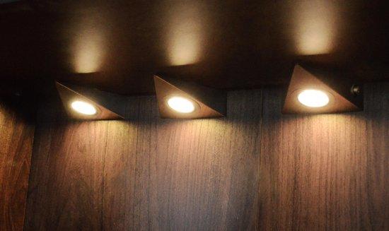 Bol Com 3 Delige Set Led Driehoek Spot Rvs Warm Wit Licht Driehoekspot Keukenverlichting