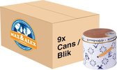 Max & Alex - Stroopwafels in Delfts Blauw blik (250 gram) - Doos met 9 blikken