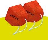 Oranje Mondmaskers met 5 lagen | Olympische spelen | Mondkapjes met hogere bescherming | Oranje stevige mondmaskers