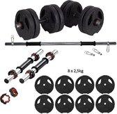 ECGSPOR Halterset / Dumbbell Set / Gewichten Set - 20 kg - Zwart