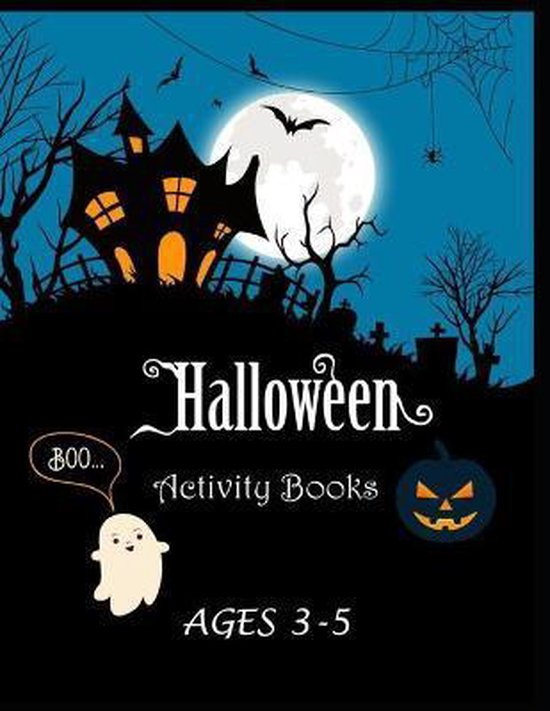 Halloween Activity Books Ages 3-5