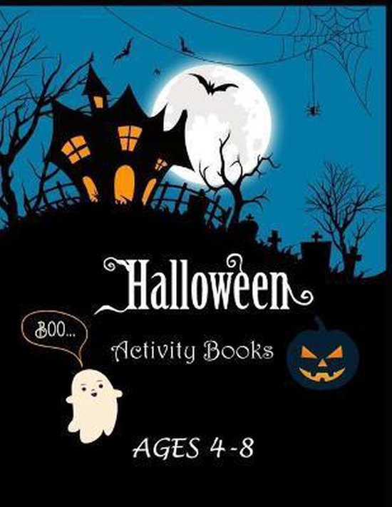 Halloween Activity Books Ages 4-8