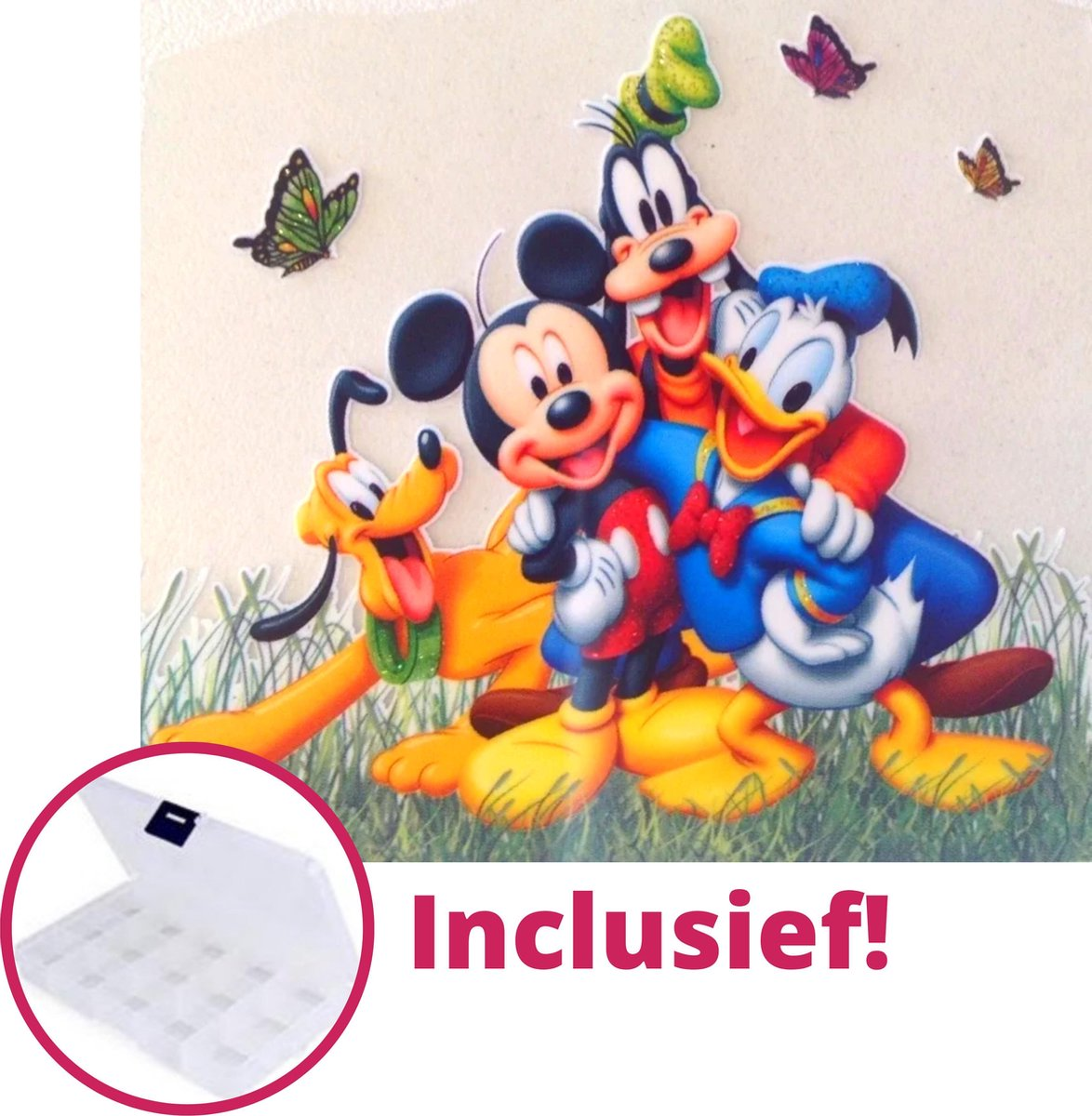 PremiumBenefits - Diamond Painting Mickey Mouse - Inclusief Opbergdoos en Accessoires - Disney Diamond Painting Pakket Volledig