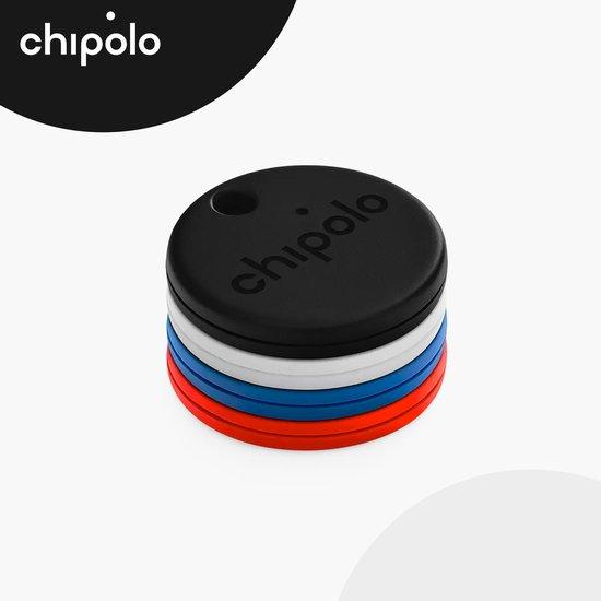 Chipolo One - Bluetooth GPS Tracker - Keyfinder Sleutelvinder - 4-Pack - Zwart & Wit & Blauw & Rood